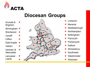 map of dioceses in England and Wales